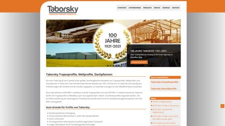 Website Taborsky Wellprofile